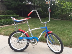 My first bike. A 1976 Huffy Stars and Stripes edition I named '76.